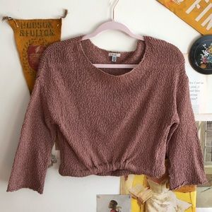 Ecote Tucked Front Pullover Sweater